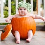 ハロウィンの子供衣装のかぼちゃを簡単に手作りで!保育園の幼児や赤ちゃん用も